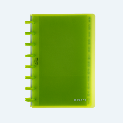 Buinsess Cards A5 Transparant Green